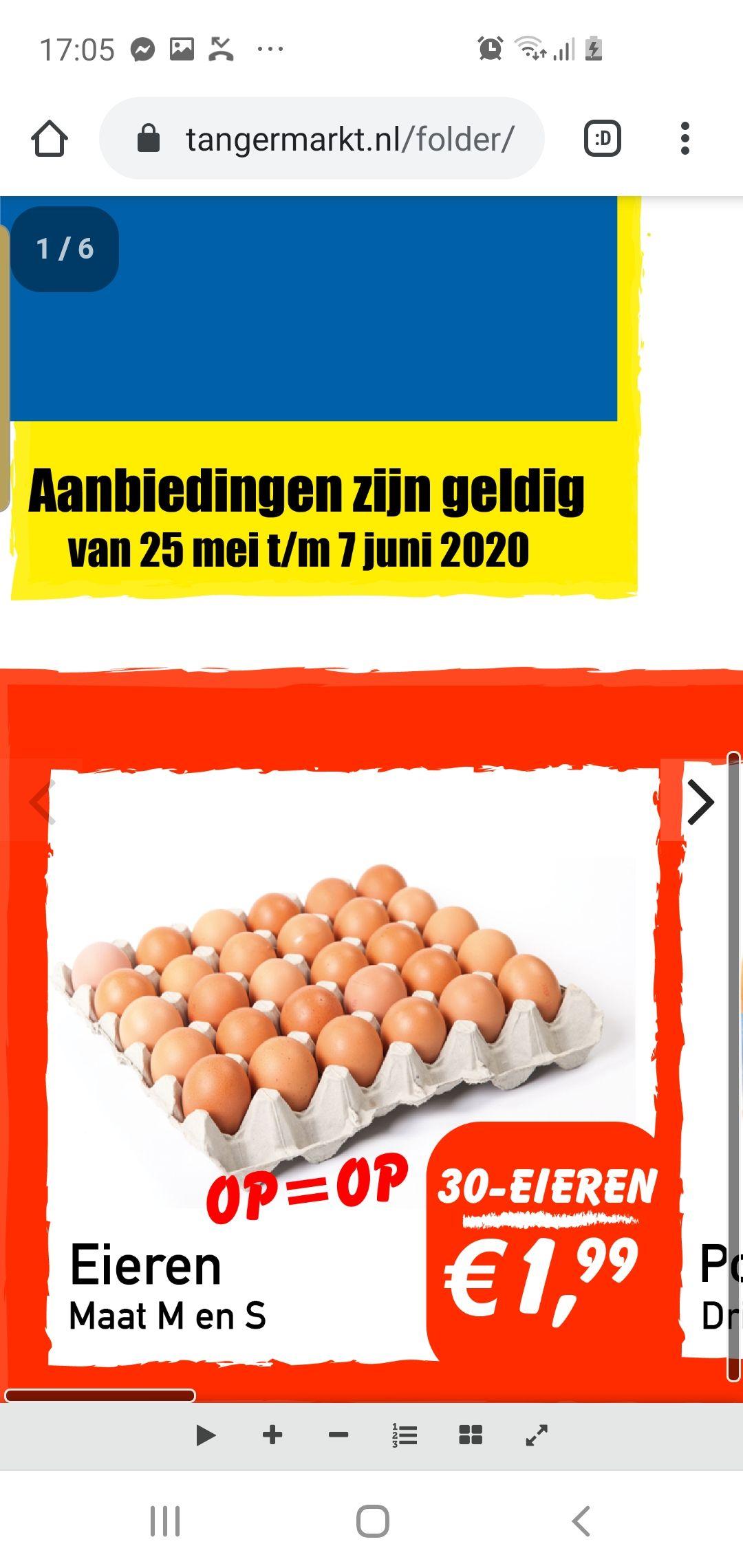 [Lokaal] 30 eieren voor €1.99 @Tanger Markt
