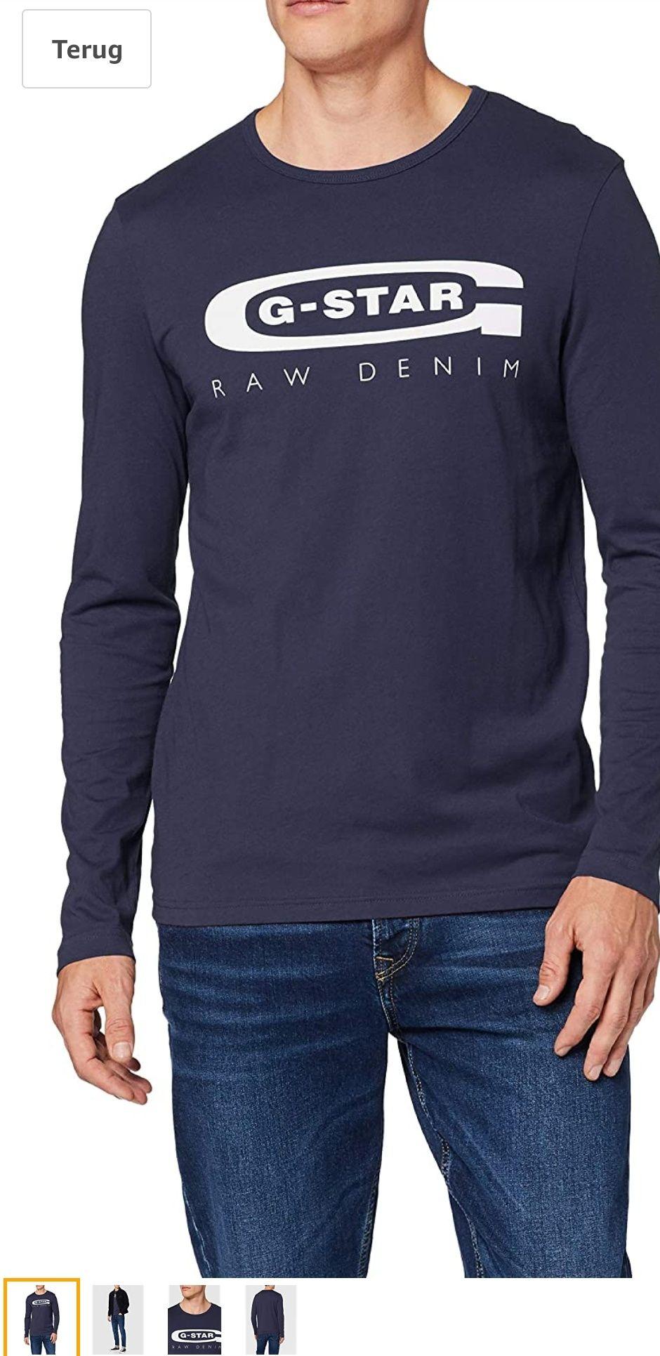 G-STAR RAW Graphic 4 Slim T-shirt met lange mouwen