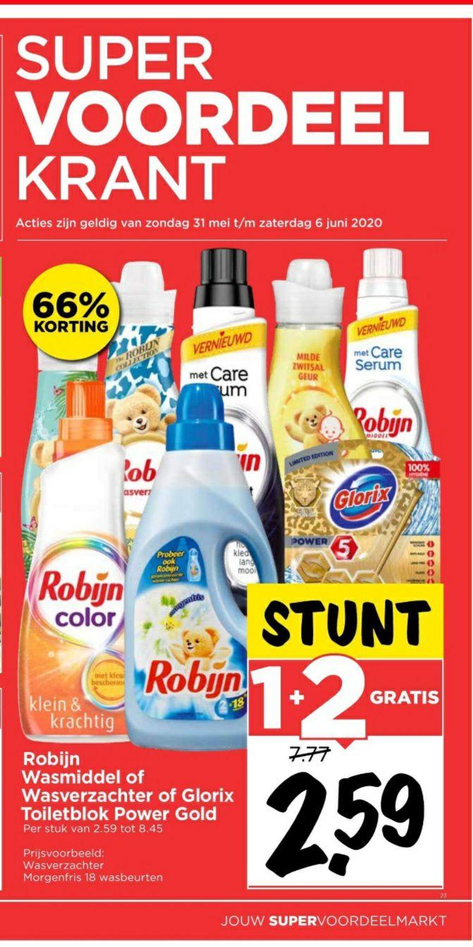 Robijn 1 + 2 gratis @ Vomar