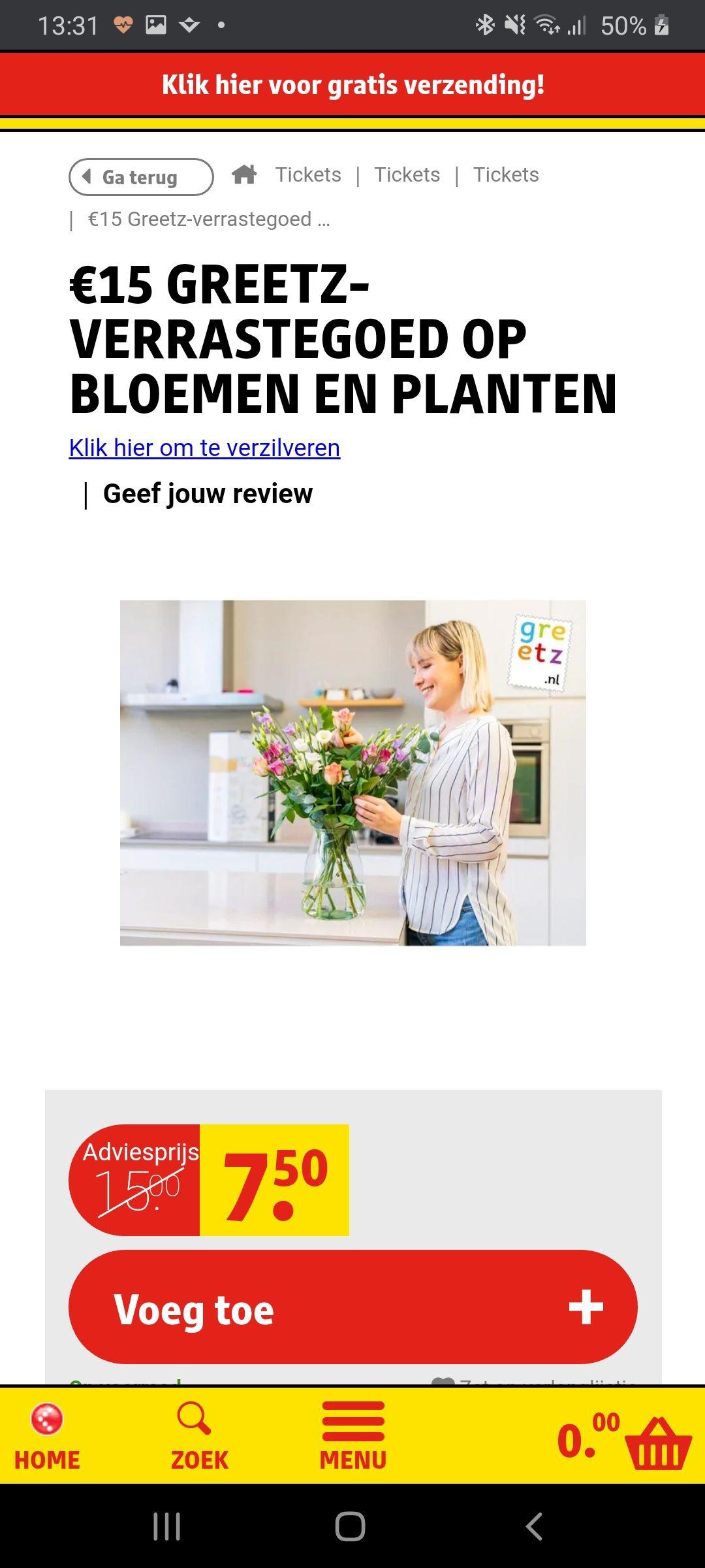 €15 Greetz Verrastegoed op bloemen en planten @Kruidvat