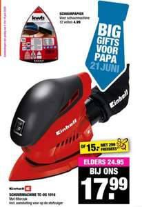 Einhell Schuurmachine @ Big Bazar €18. Elders va. €26
