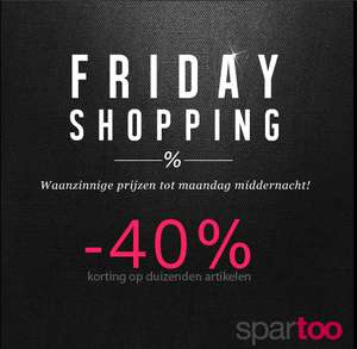 [Black Friday] 40% korting op duizenden items @ Spartoo