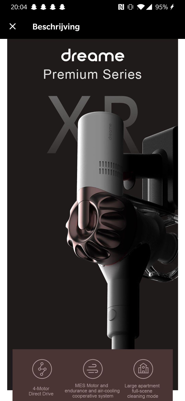 Xiaomi Dreame XR stofzuiger