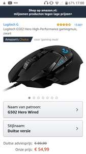 Logitech G502 Hero High-Performance gamingmuis, zwart