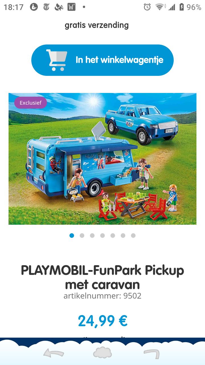 Playmobil 9502 funpark jeep en caravan €24,99