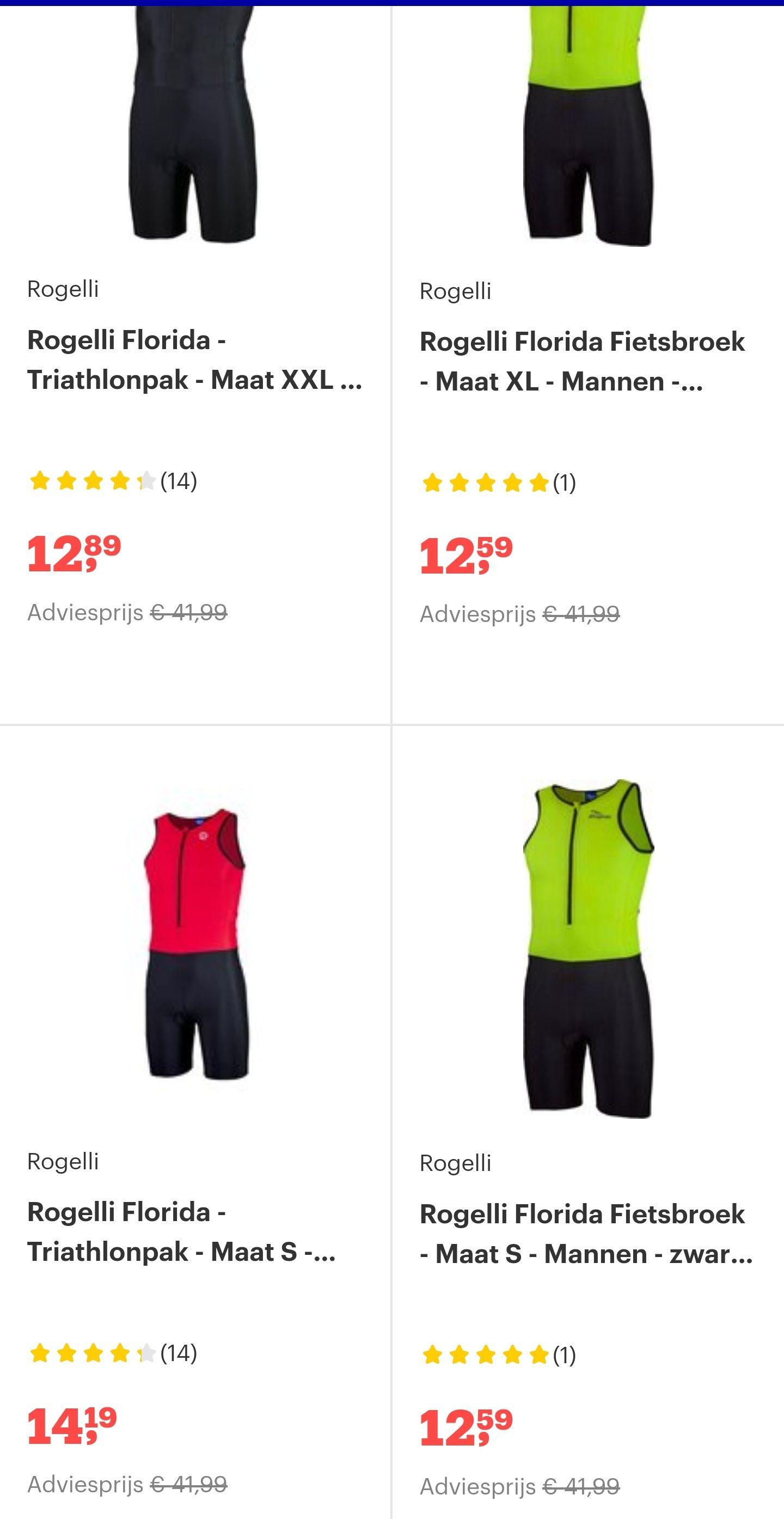 Triathlon/fiets pakken met meer dan 50% korting @bol.com