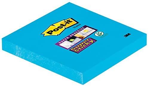 Post-It Super Sticky Notes 76x76mm, 6 stuks ultrablauw