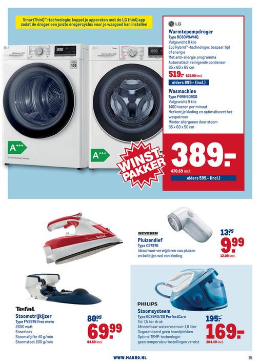 LG Droger € 627,99 wasmachine € 470.69