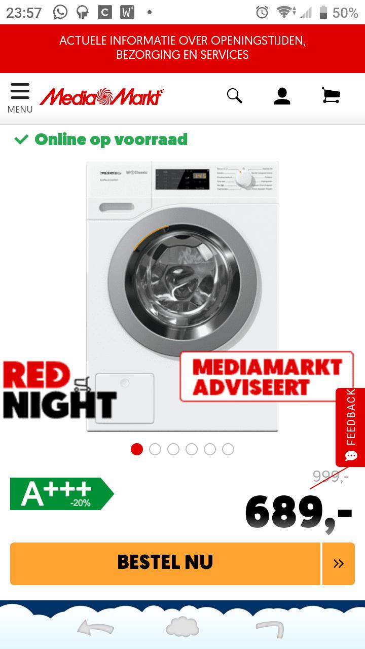 Miele WDS 330 Speedcare wasmachine