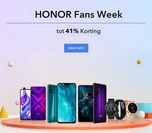 Diverse HONOR deals [o.a. HONOR 20 €299 | HONOR WATCH MAGIC €79,90]