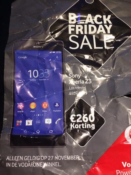 [Black Friday] Sony Experia Z3 los toestel voor €299,- @ Vodafone