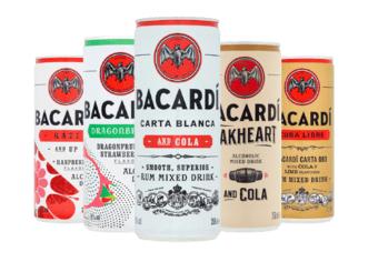 Alle Bacardi premix blikjes voor € 0,99 bij Plus supermarkt