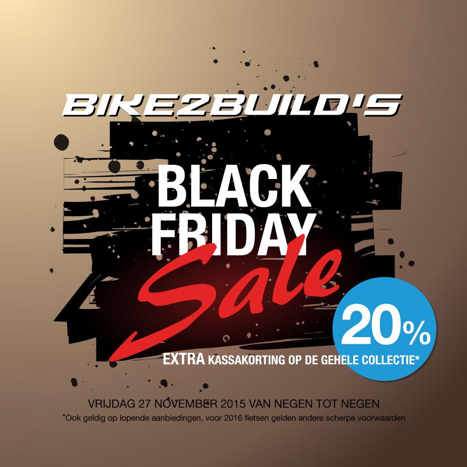 Black Friday 20% op hele assortiment @ Bike2Build