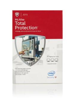 McAfee Total Protection 2015 voor 3 PCs 1 jaar voor 17,60 euro @ de Bijenkorf