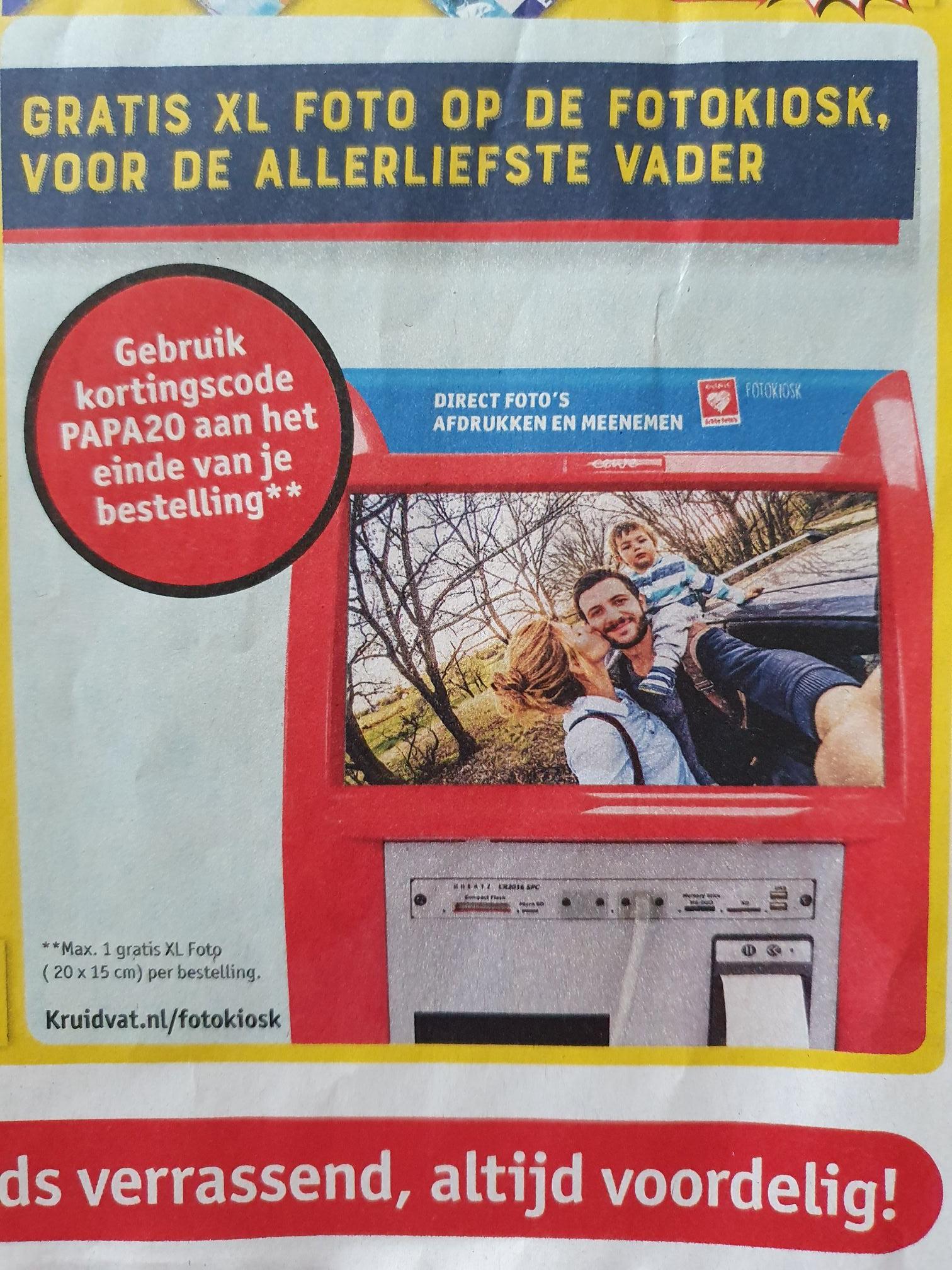 Gratis XL foto (20x15 cm) voor vaderdag @ Kruidvat (NL)