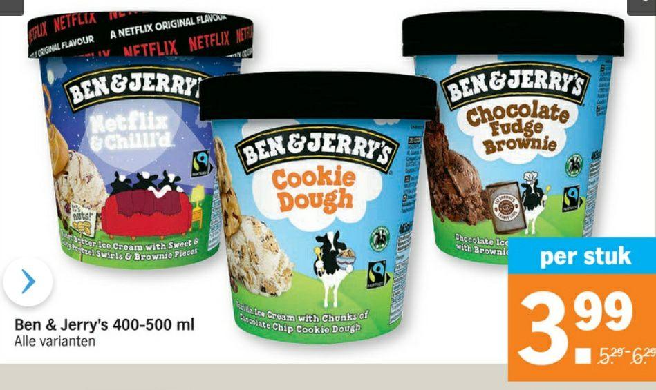 Ben & Jerry's 400-500ml ijs voor €3,99 + 2x 6-pack corona voor €8,99