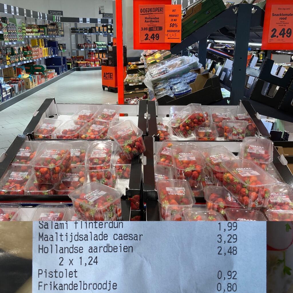 [Assen] Hollandse Aardbeien 500 gram Lidl