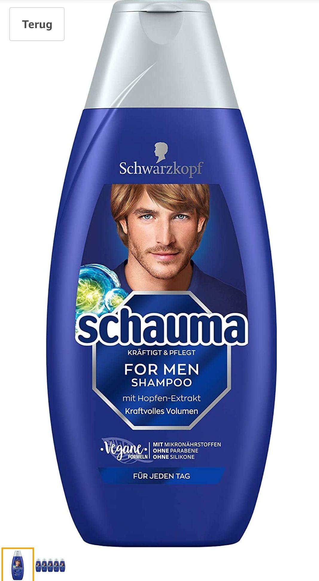 Schwarzkopf For Men Shampoo 5x 400 ml