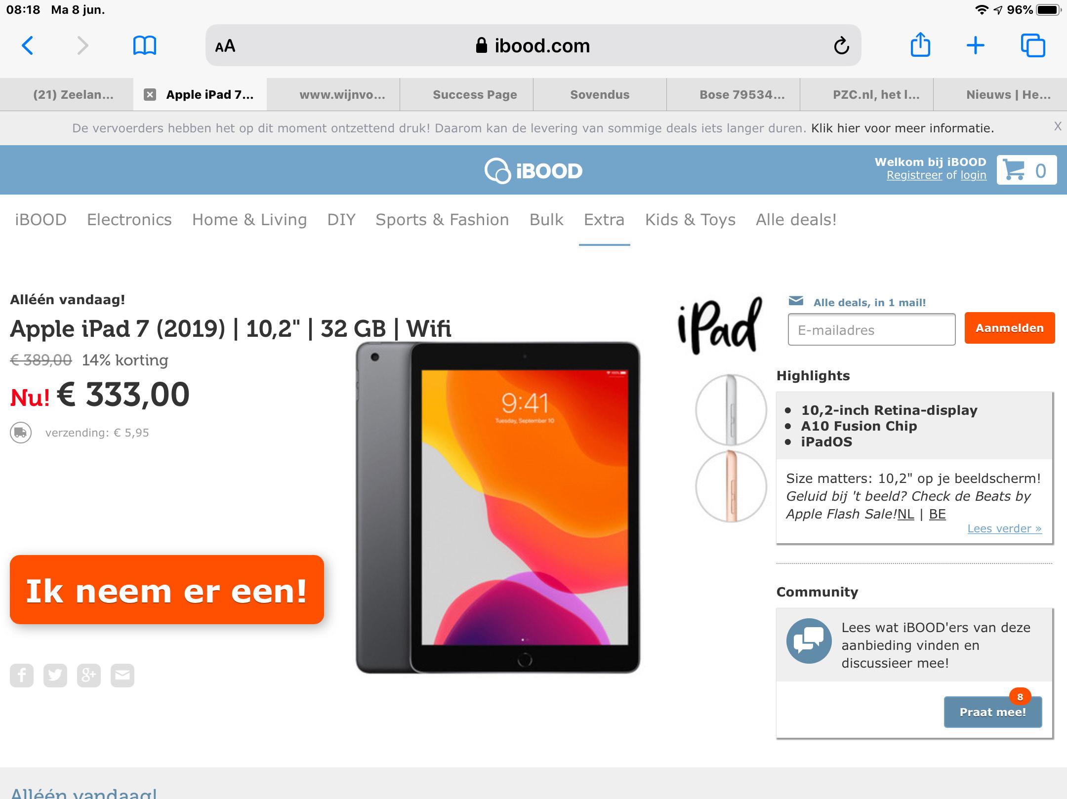 iPad 32 gigabyte 7 de generatie