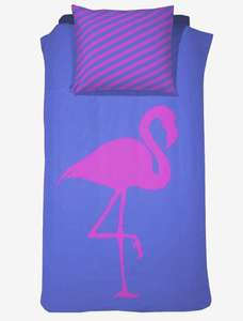 Damai (BFF) Best Flamingo Forever - Dekbedovertrek - 140 x 200/220 - Eenpersoons - Electric Blue