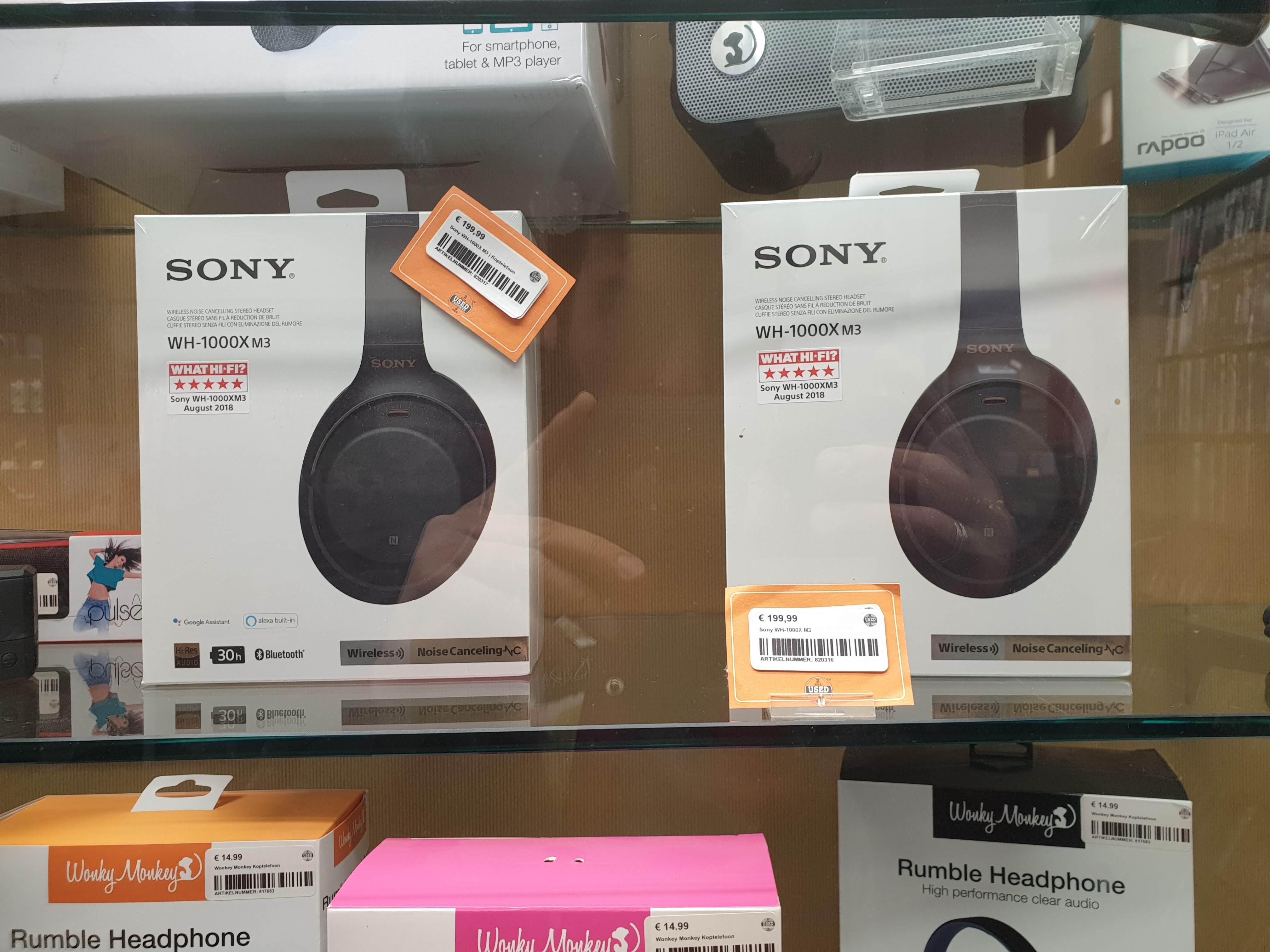 [Lokaal - Zeist] Sony WH-1000XM3 nieuw in seal