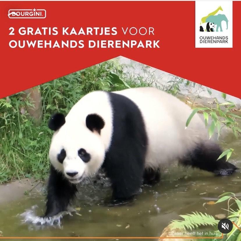 2 gratis kaartjes ouwehands dierenpark bij aankoop Bourgini product.