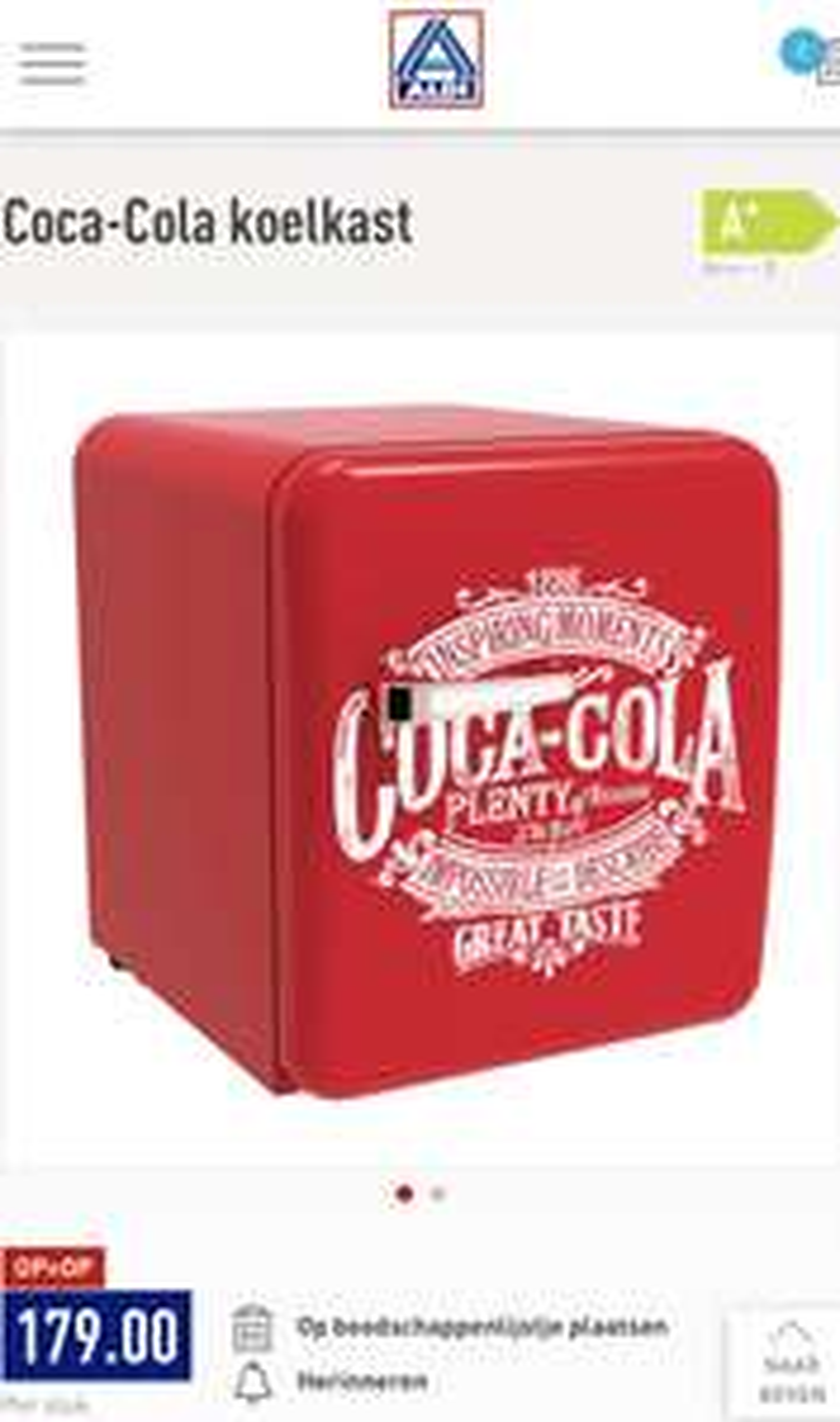 Retro Coca-Cola koelkast 48l