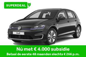 Private Lease Volkswagen e-Golf 2020 5-deurs