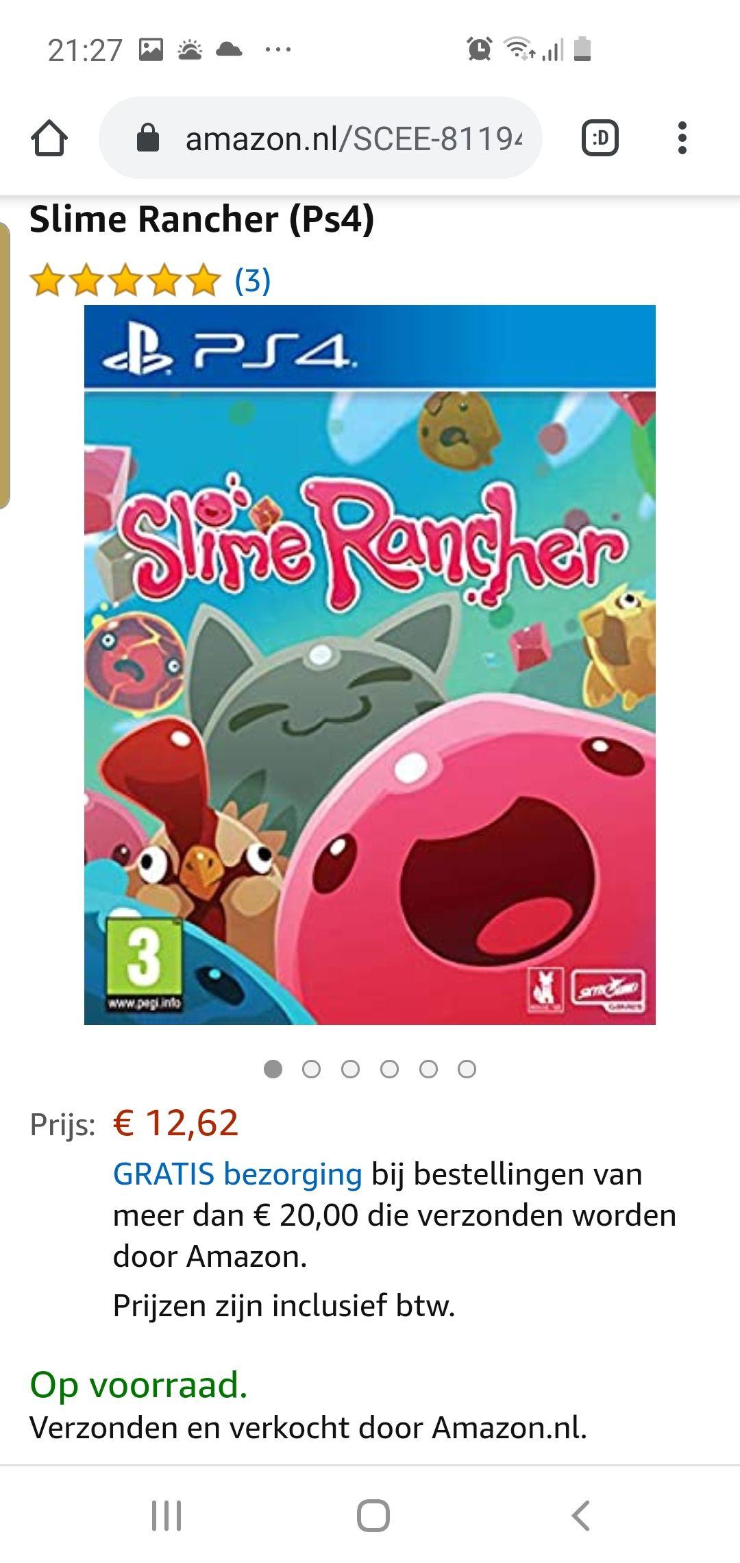 Slime Rancher (Ps4) @ Amazon.nl