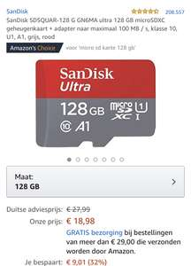 SANDISK 128GB MICRO SD ULTRA