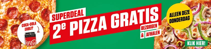 Vandaag 2e pizza gratis (bezorgen & afhalen) @ New York Pizza
