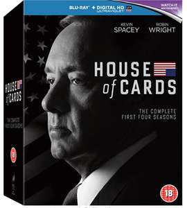 House of Cards seizoen 1-4 (blu-ray) €9,45 @ Amazon.nl