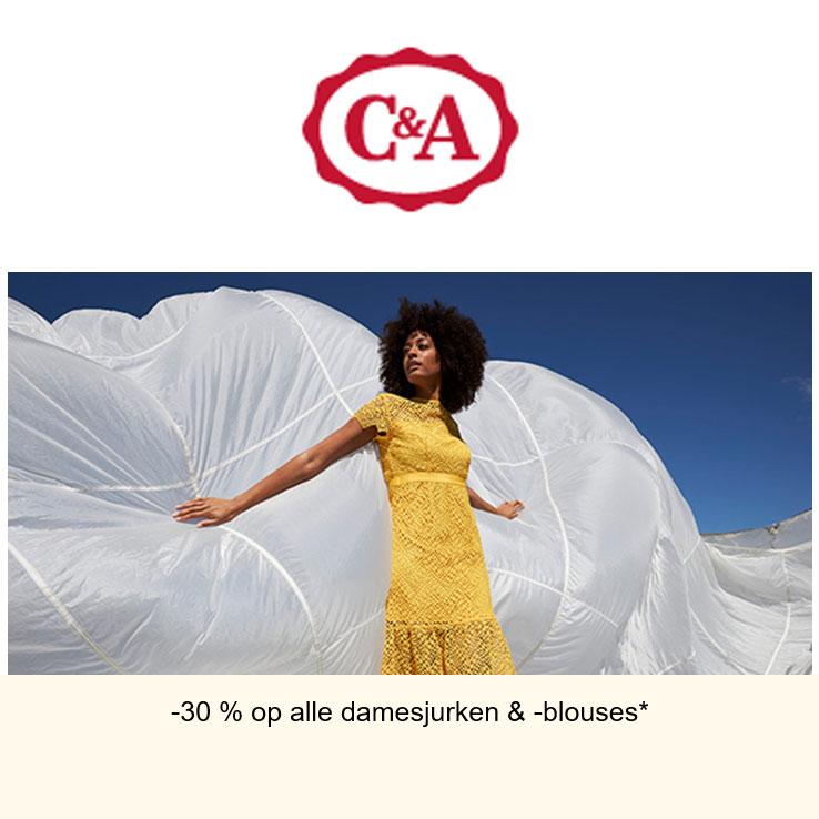 30% Korting: jurken & blouses - ook SALE @ C&A