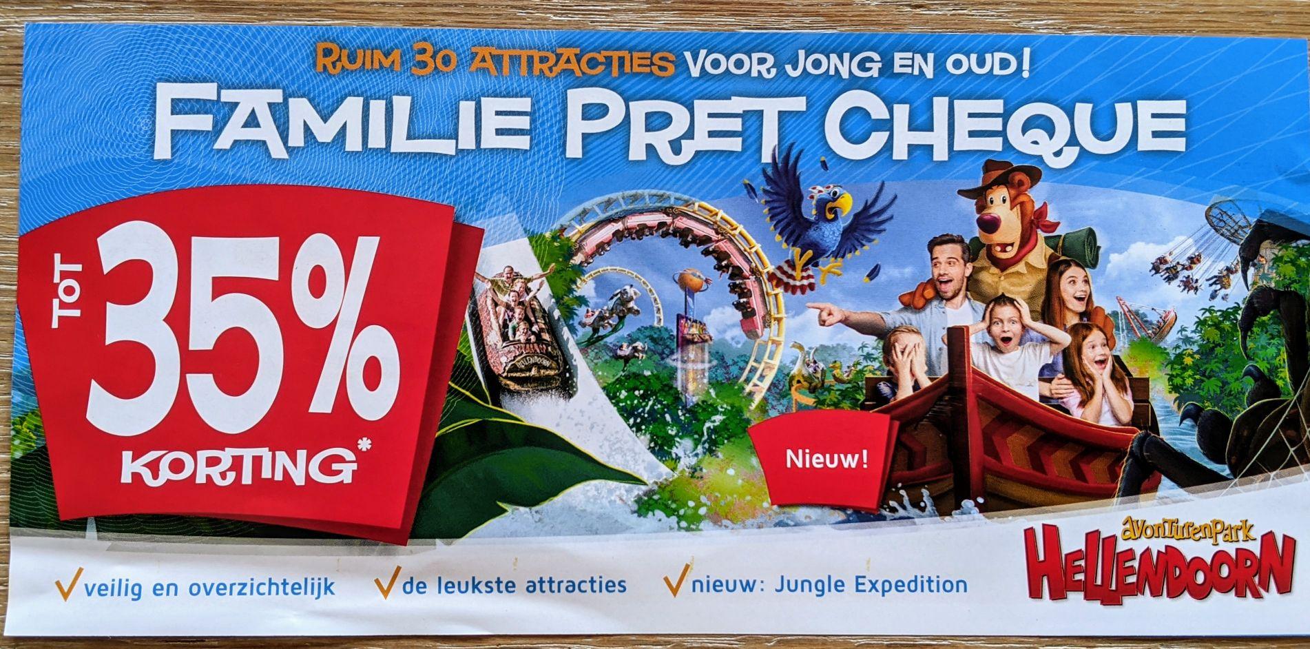 Tot 35% korting op een combinatie deal Patat en entree 22,95 p.p Avonturenpark Hellendoorn
