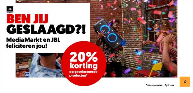 20% korting op geselcteerd JBL producten met je diploma @ Media Markt