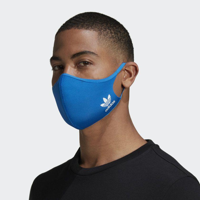 Adidas wasbare herbruikbare mondkapjes 3-pack Blue Bird