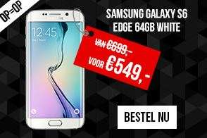 [Black Friday] Samsung Galaxy S6 Edge 64GB White voor €549 @ Typhone