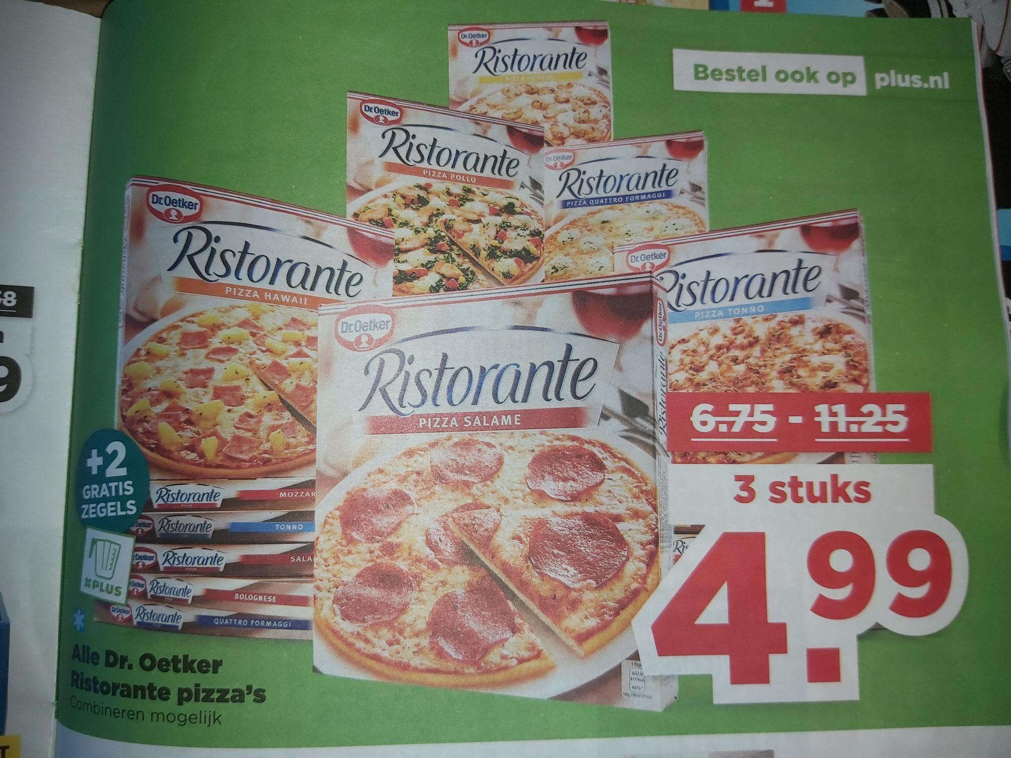 Plus: Dr. Oetker Ristorante 3 voor 5 euro