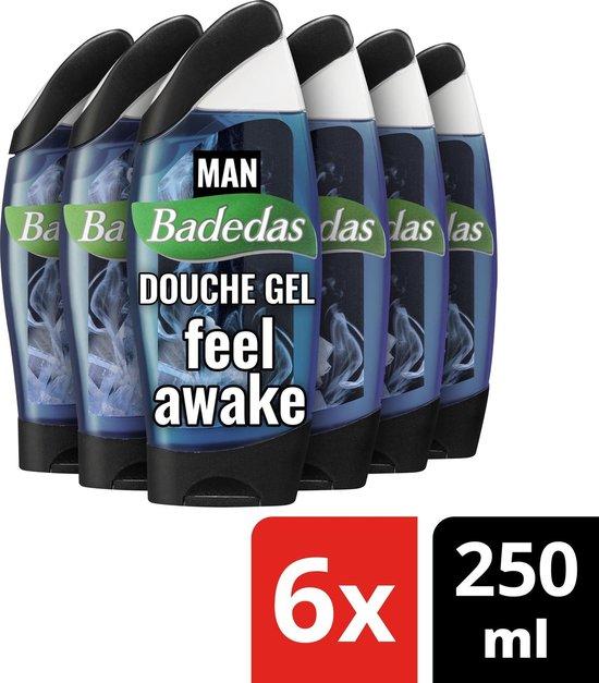 Badedas Men Feel Awake Douchegel - 6 x 250 ml - Voordeelverpakking