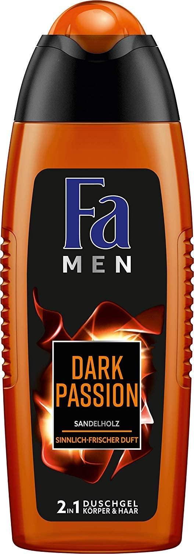 6 x 250 ml Fa Men Dark Passion Sensual Fresh douchegel,