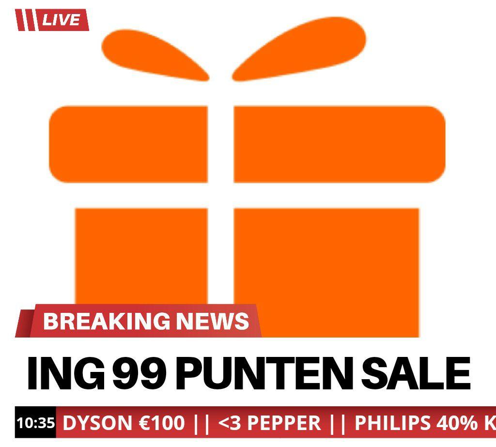 ING 99 Punten Sale o.a. voor Dyson, Philips, Walibi en meer!