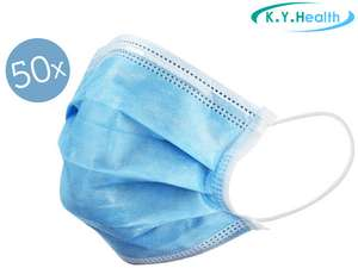 50x K.Y.Health Mondmasker (Type I)