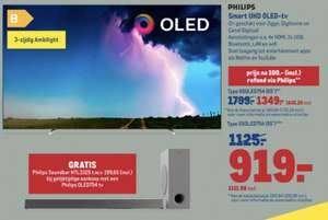 Philips 55OLED754 + gratis Philips Soundbar HTL 3325