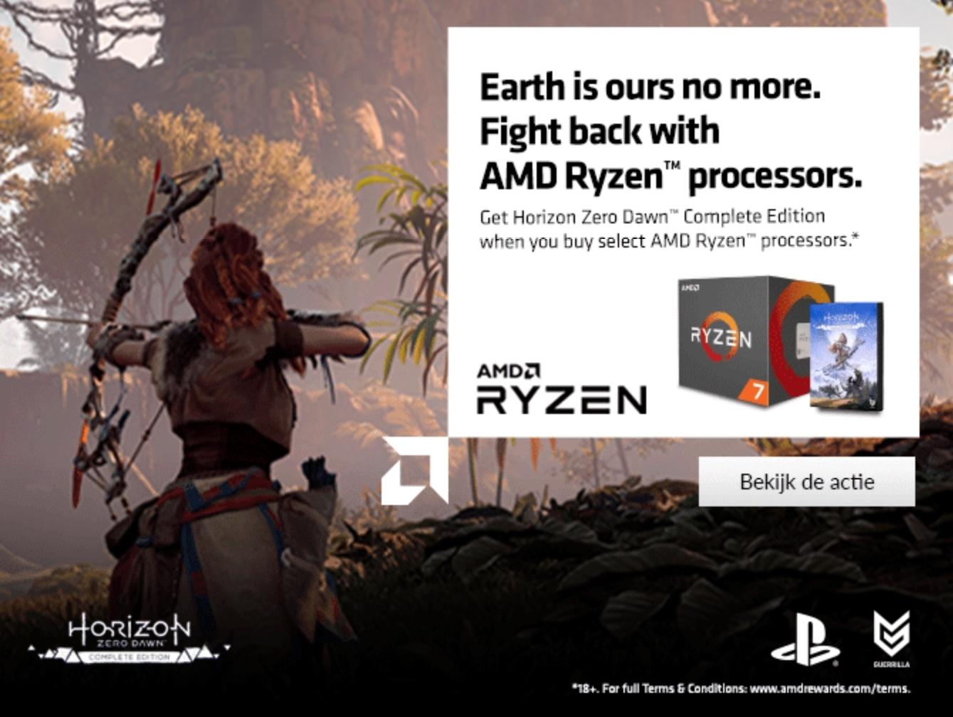 Gratis Horizon Zero Dawn (PC) bij aanschaf van een AMD Ryzen™ processor