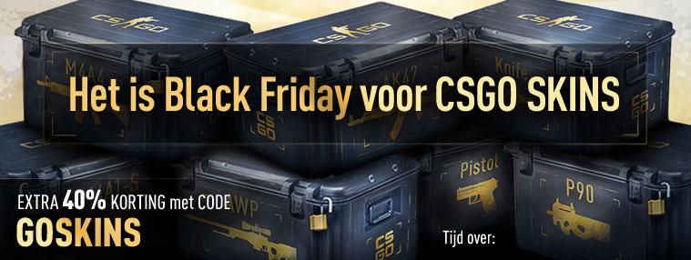 40% Korting op alle CS:GO Skins tijdens Black Friday weekend!! @Kinguin