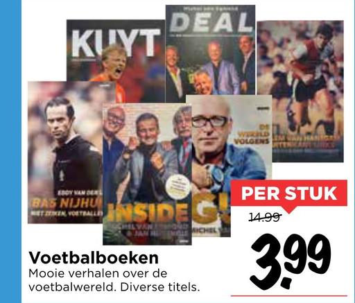 Leesboeken over voetbal voor €3,99 p/s @ Vomar