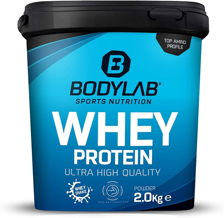 Bodylab 2kg Whey - keuze uit verschillende smaken - van €29,99 nu €20,99