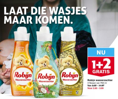 Robijn Wasverzachter 1+2 Gratis @Hoogvliet
