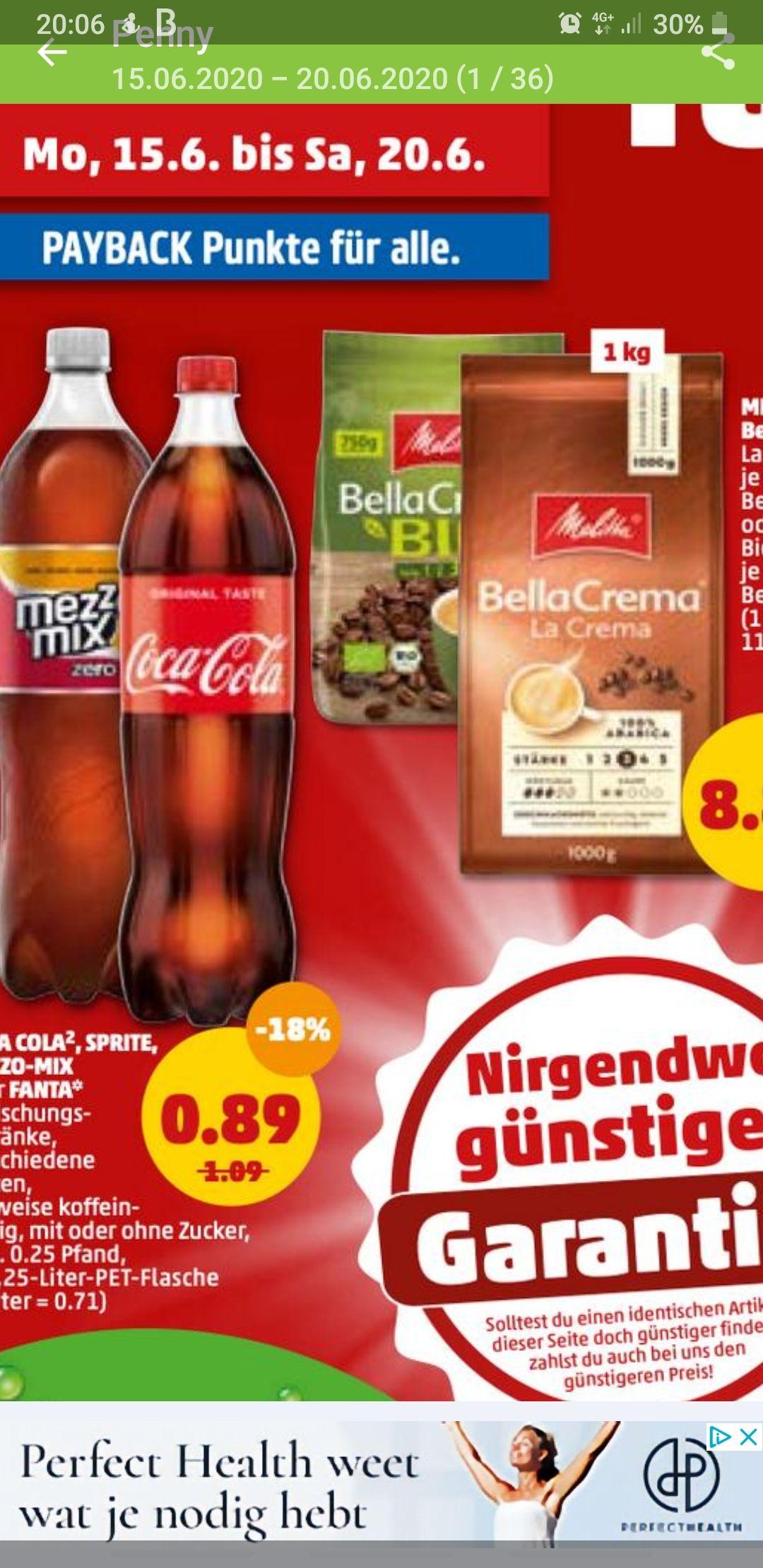 Grensdeal Coca Cola 1,25 liter voor slechts 0,89€ bij Penny.