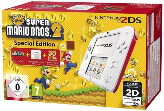 [Black Friday] Nintendo 2DS Console wit/rood + New Super Mario Bros 2 voor €79,- @ Bol.com